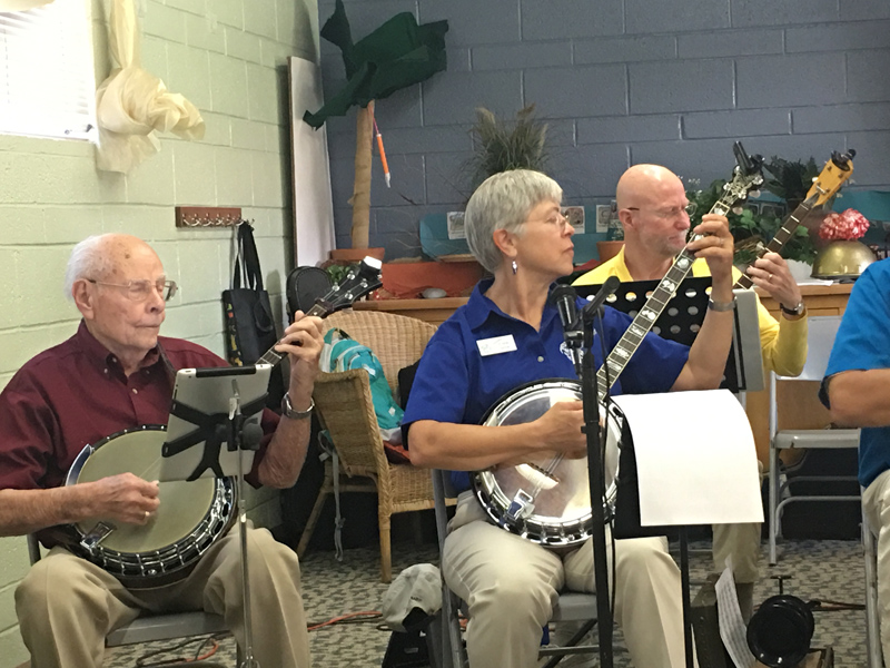 Banjo Heaven, members of the Banjo Blasters quickly pluck out the melody.